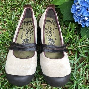 Merrell Plaza Bandeau Mary Jane Suede Shoes